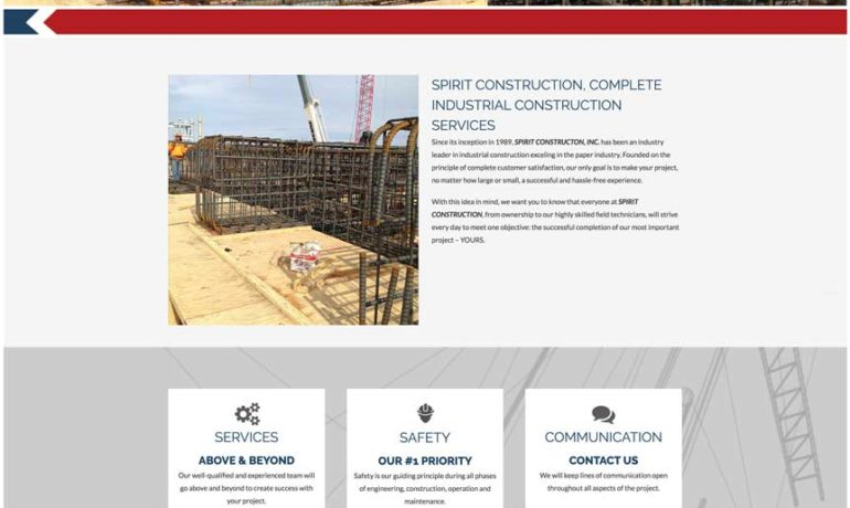 Spirit Construction launches new website
