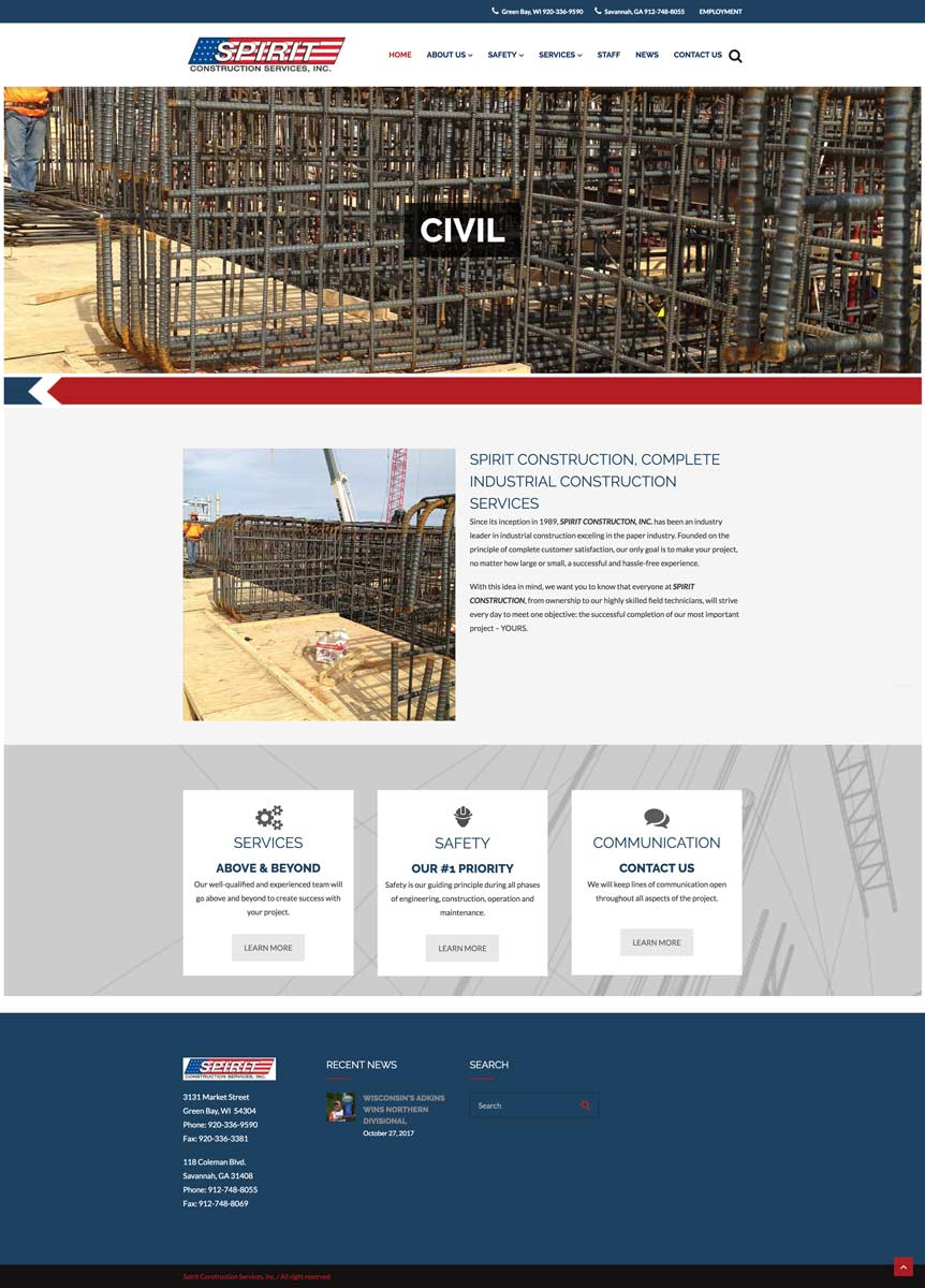 Spirit Construction Services Releases Mobile-Friendly Website